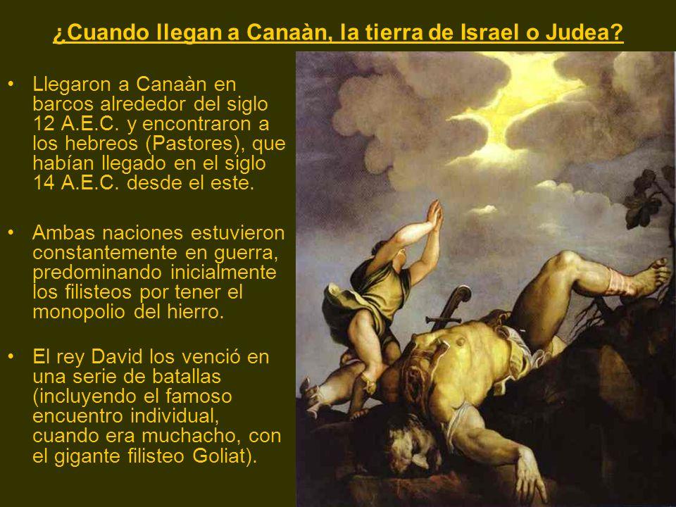 ¿Cuando llegan a Canaàn, la tierra de Israel o Judea