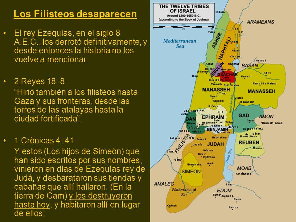 Los Filisteos desaparecen