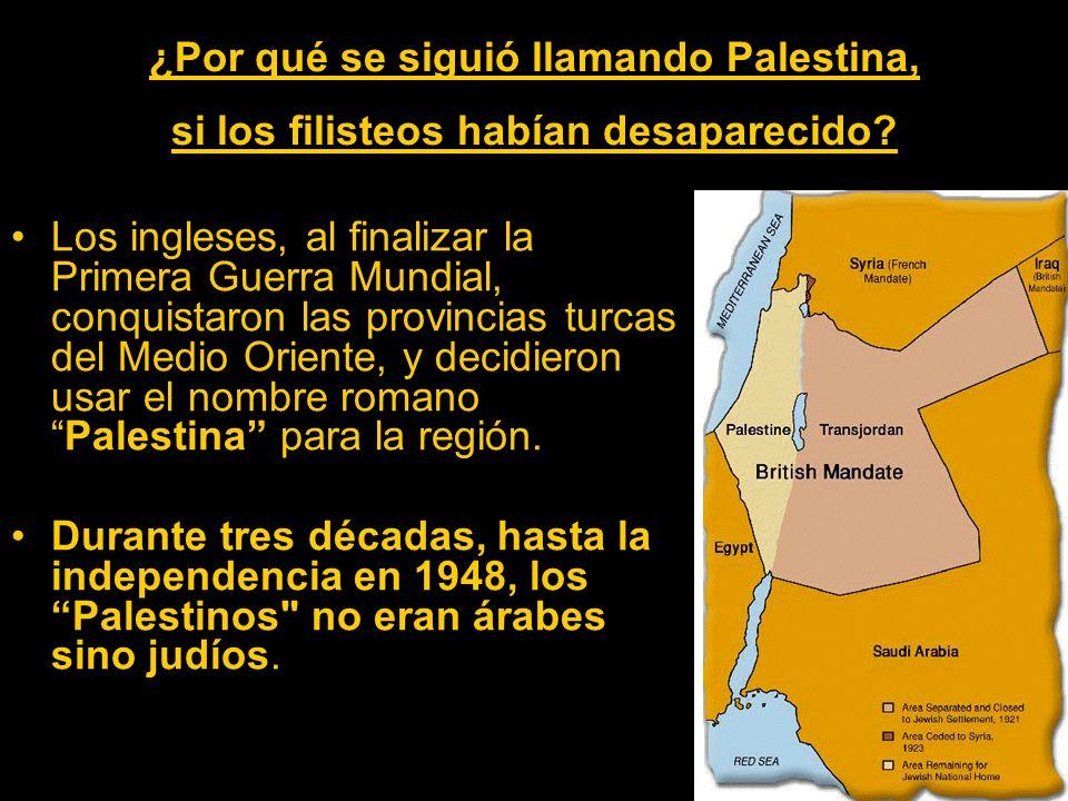 ¿Por qué se siguió llamando Palestina, si los filisteos habían desaparecido