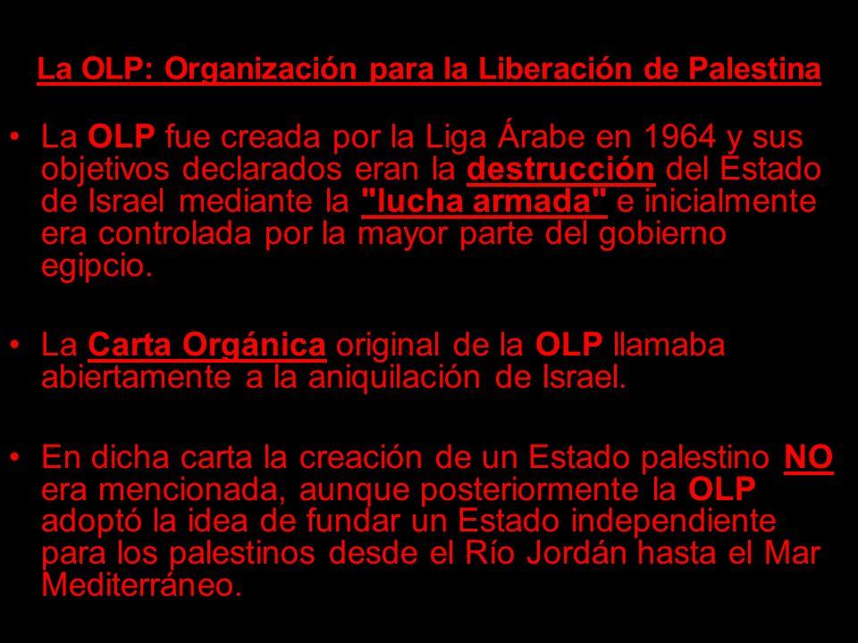 La OLP: Organización para la Liberación de Palestina