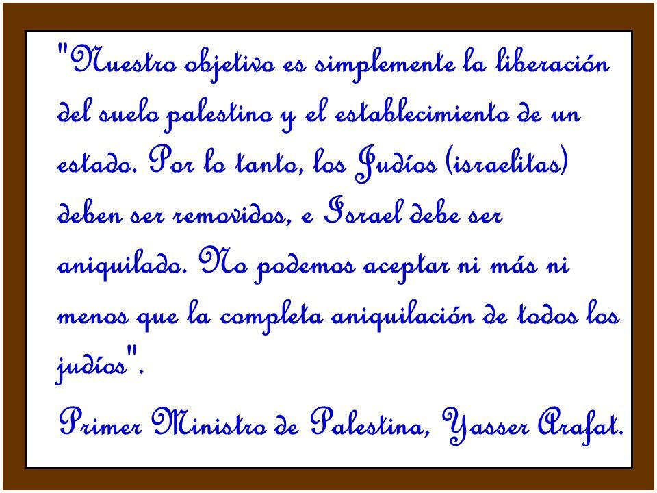 Primer Ministro de Palestina, Yasser Arafat.