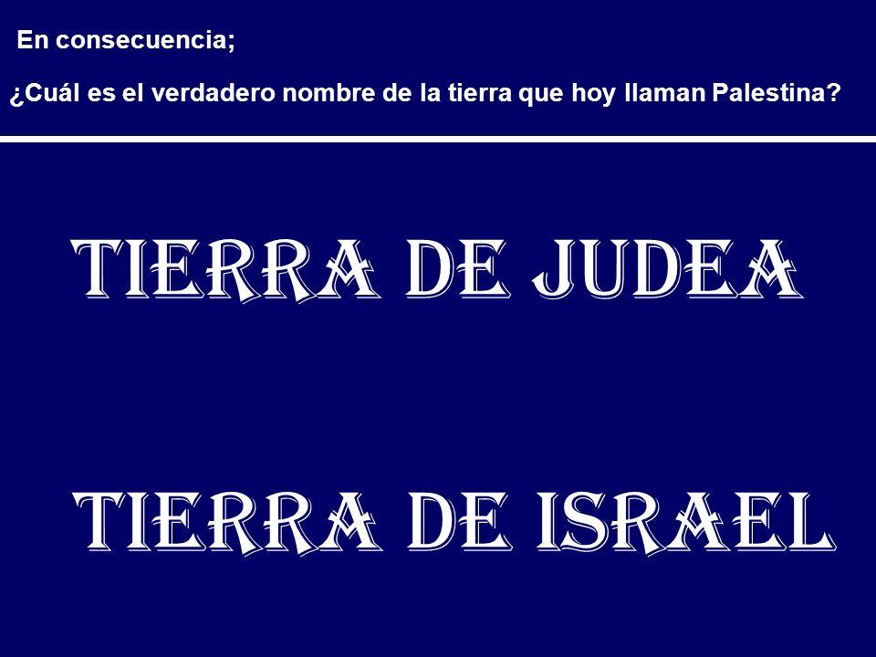 Tierra de Judea Tierra de Israel