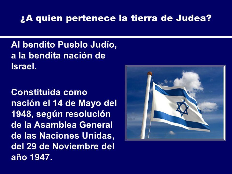 ¿A quien pertenece la tierra de Judea
