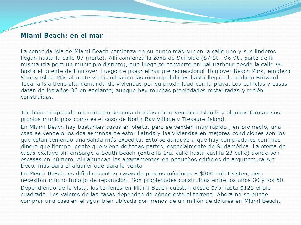 Miami Beach: en el mar