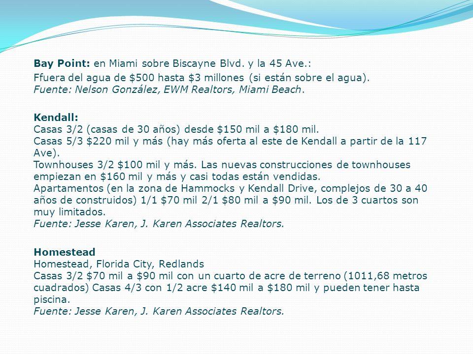 Bay Point: en Miami sobre Biscayne Blvd. y la 45 Ave.: