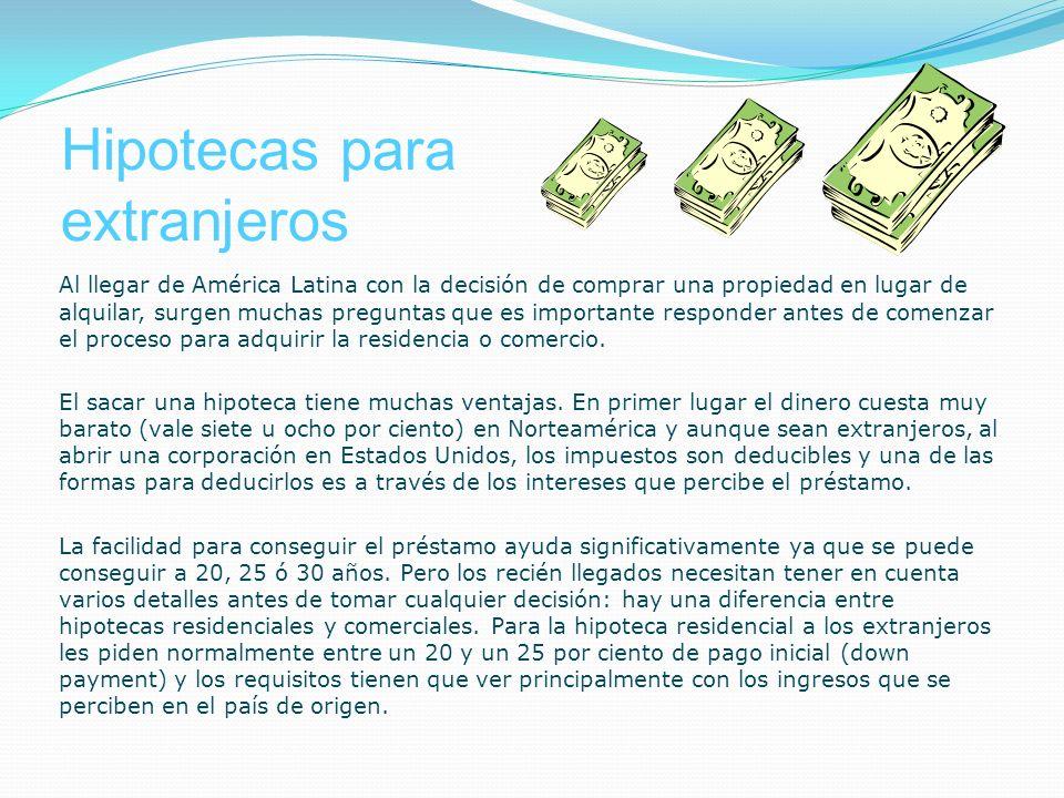 Hipotecas para extranjeros
