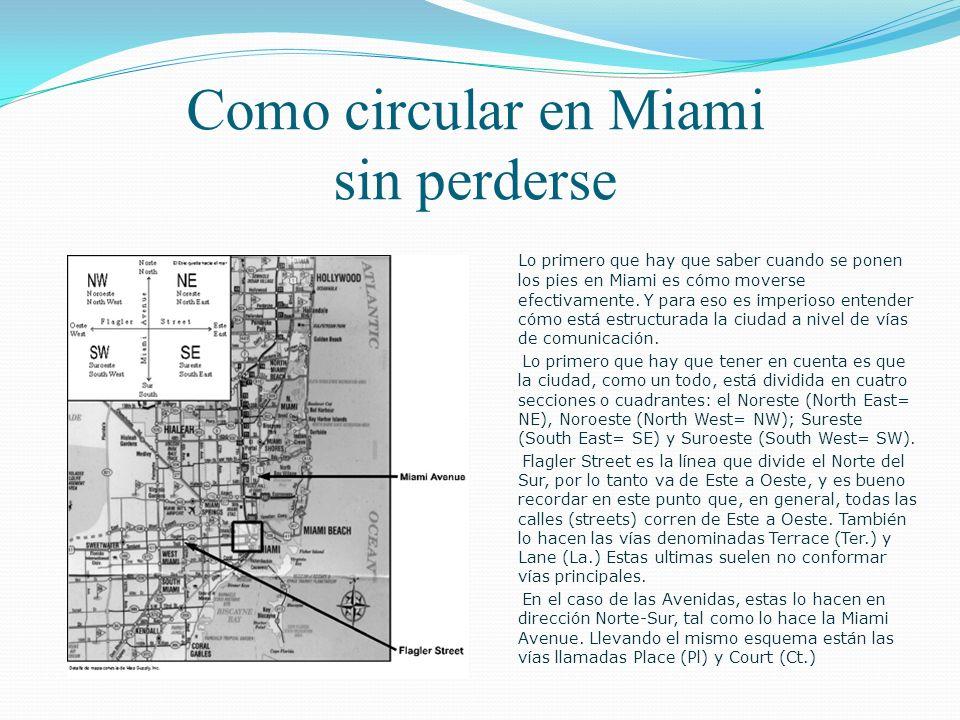 Como circular en Miami sin perderse