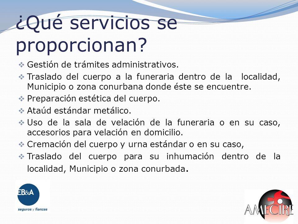 ¿Qué servicios se proporcionan