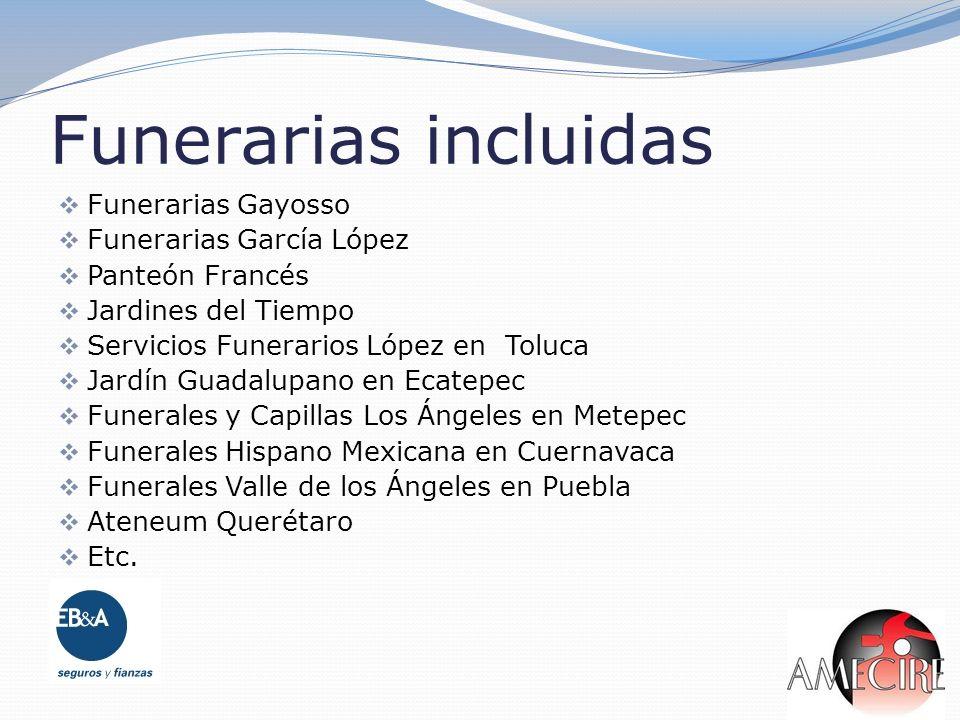Funerarias incluidas Funerarias Gayosso Funerarias García López