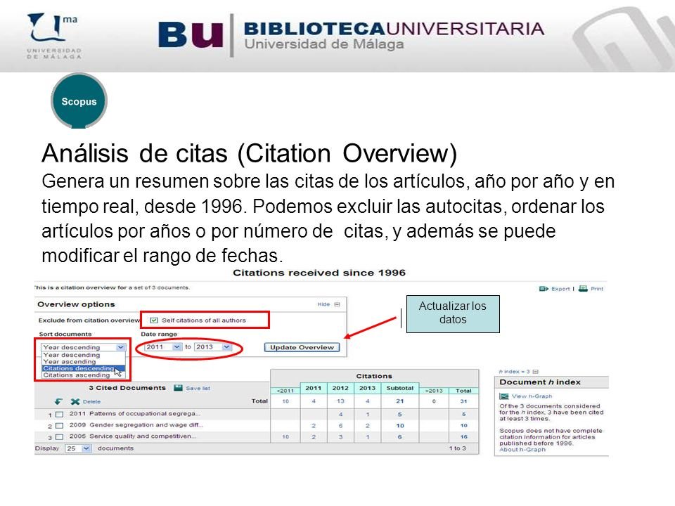 Análisis de citas (Citation Overview)