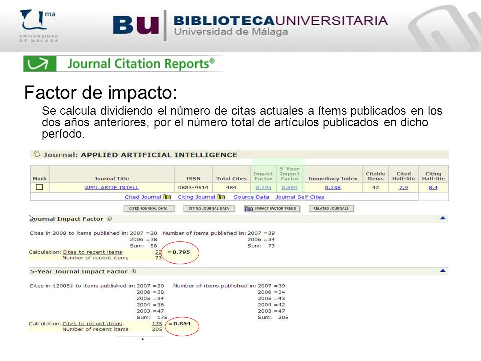 Factor de impacto: