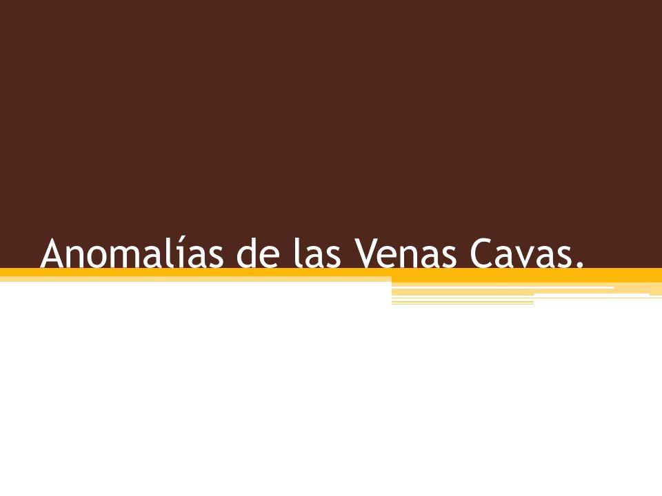 Anomalías de las Venas Cavas.