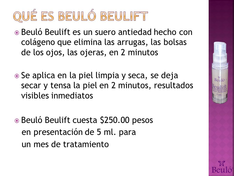 Qué es Beuló Beulift