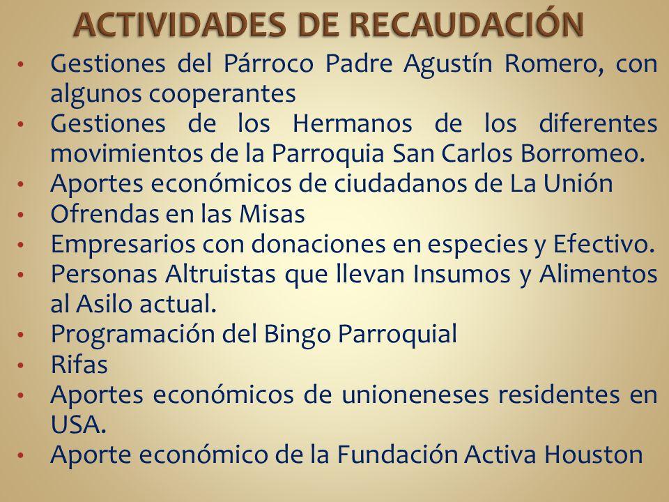 ACTIVIDADES DE RECAUDACIÓN