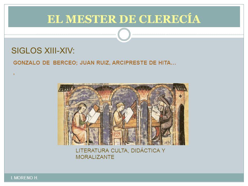 EL MESTER DE CLERECÍA SIGLOS XIII-XIV: