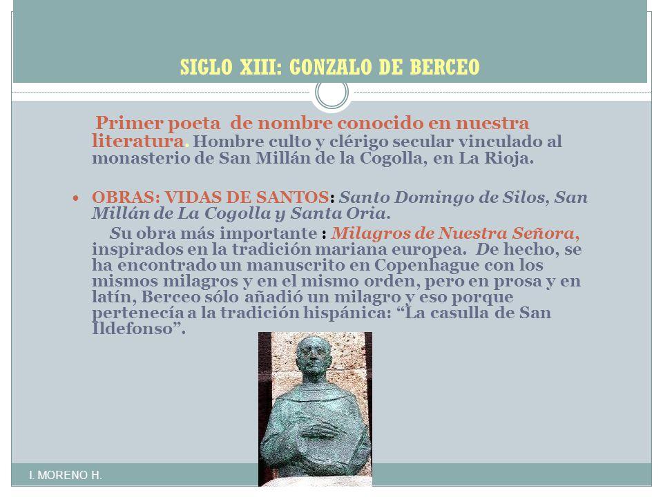 SIGLO XIII: GONZALO DE BERCEO