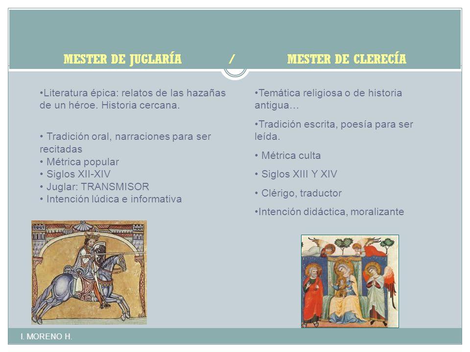 MESTER DE JUGLARÍA / MESTER DE CLERECÍA