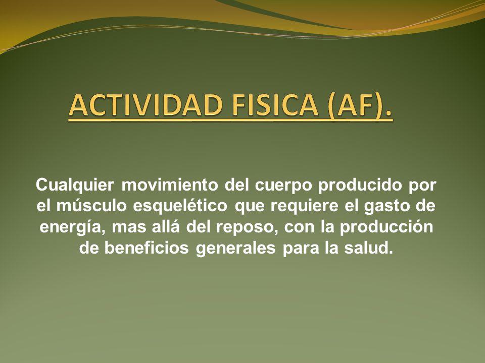 ACTIVIDAD FISICA (AF).
