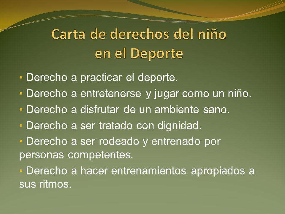 Carta de derechos del niño en el Deporte