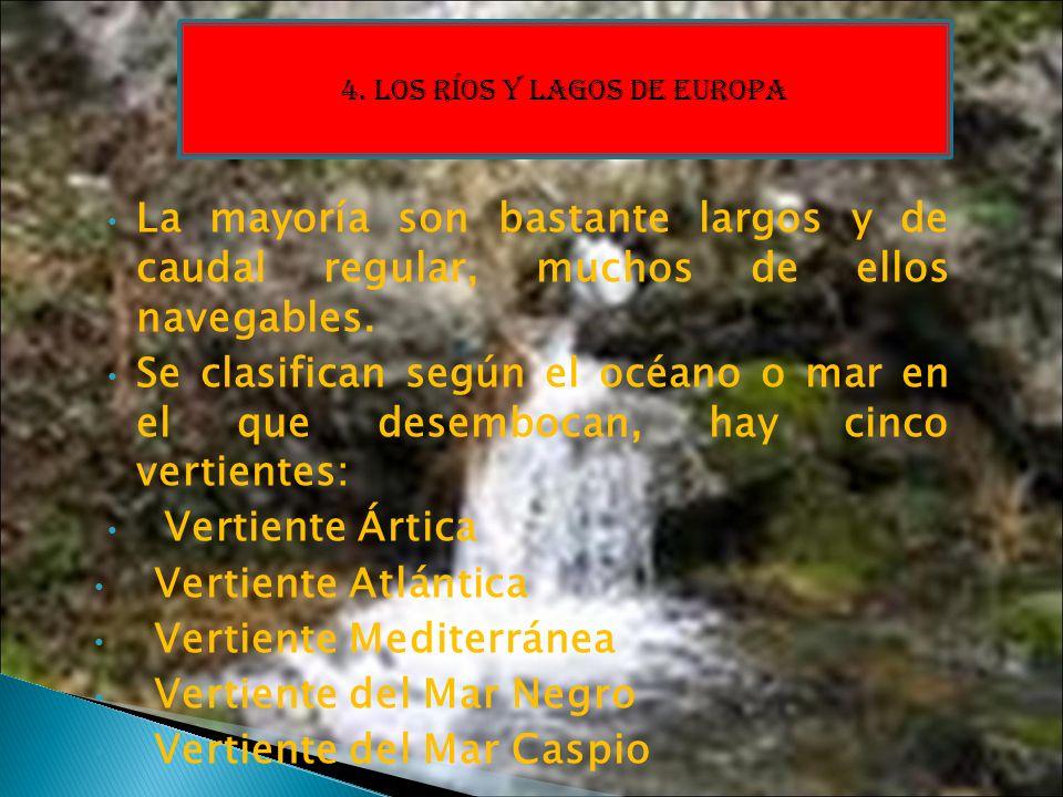 4. LOS RÍOS Y LAGOS DE EUROPA