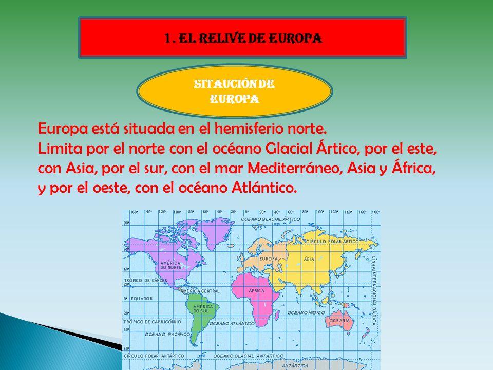 Europa está situada en el hemisferio norte.