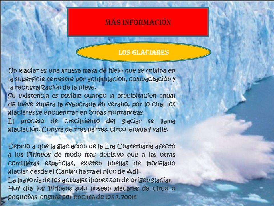 Picos MÁS INFORMACIÓN LOS GLACIARES Aneto