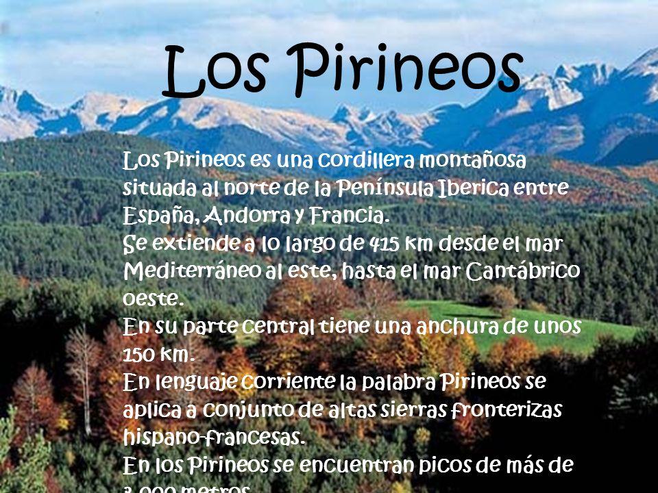 LAGOS Los Pirineos. Los Pirineos es una cordillera montañosa situada al norte de la Península Iberica entre España, Andorra y Francia.