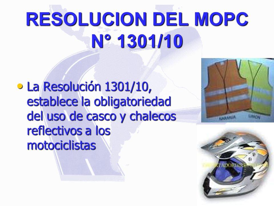 RESOLUCION DEL MOPC N° 1301/10