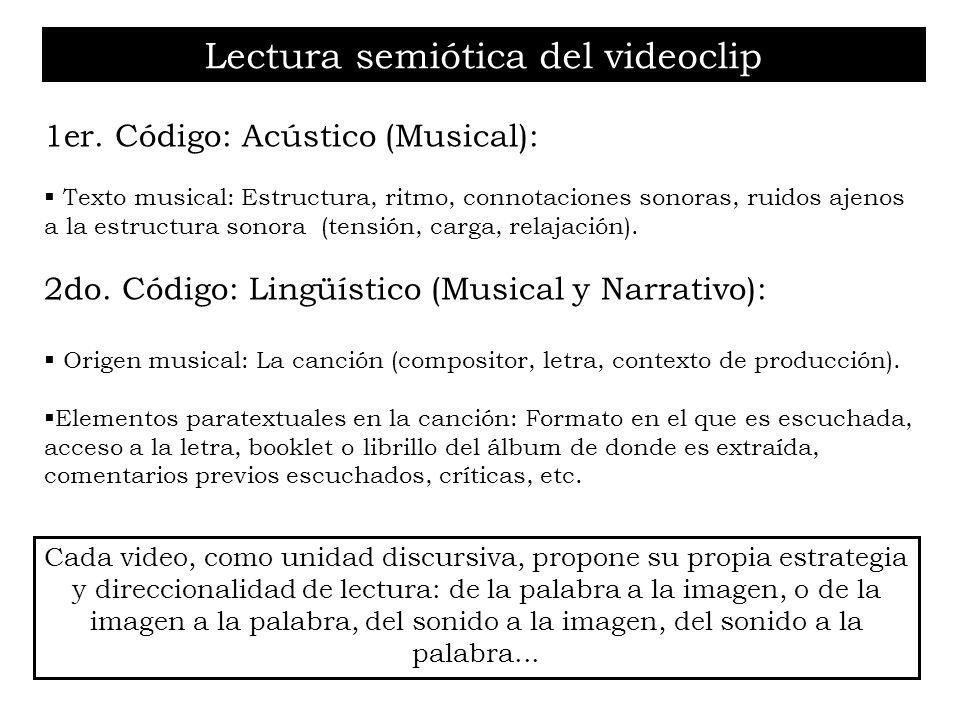 Lectura semiótica del videoclip