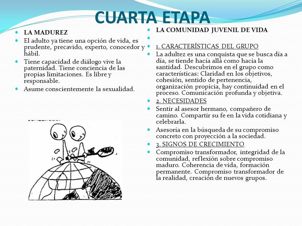 CUARTA ETAPA LA COMUNIDAD JUVENIL DE VIDA LA MADUREZ