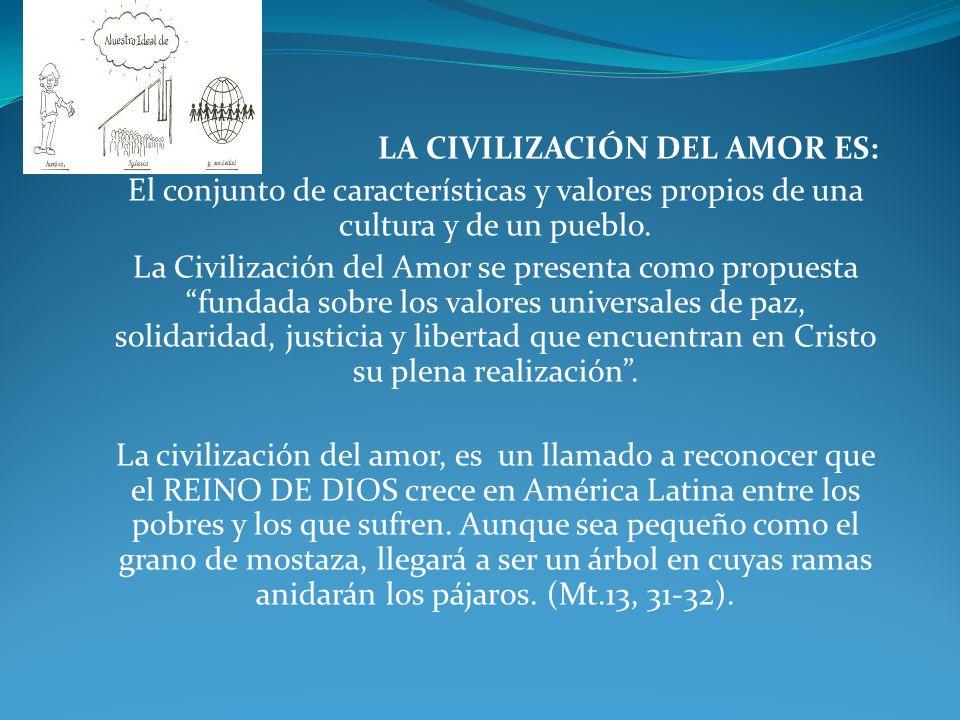 LA CIVILIZACIÓN DEL AMOR ES: