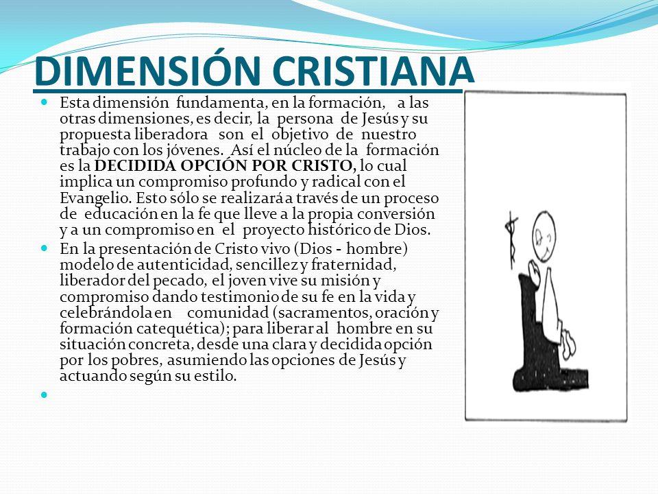 DIMENSIÓN CRISTIANA