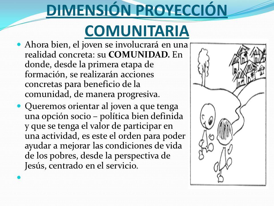 DIMENSIÓN PROYECCIÓN COMUNITARIA