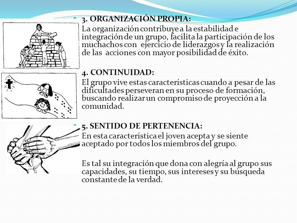 3. ORGANIZACIÓN PROPIA: