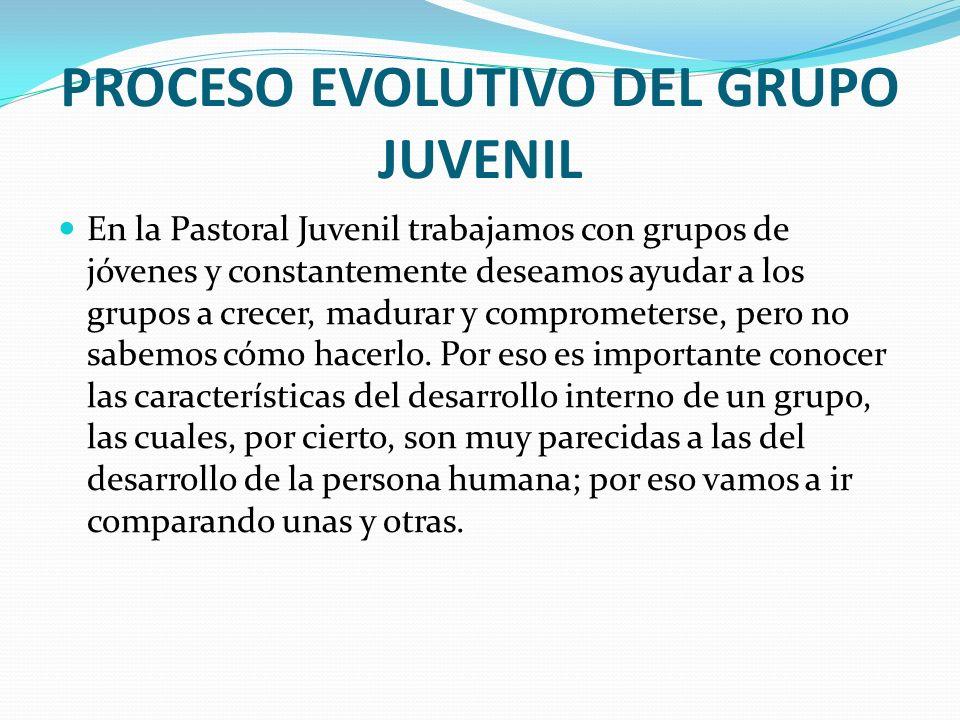 PROCESO EVOLUTIVO DEL GRUPO JUVENIL