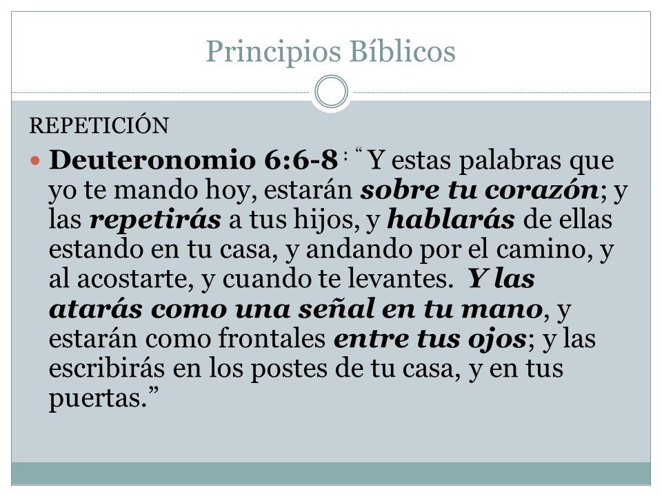 Principios Bíblicos REPETICIÓN.