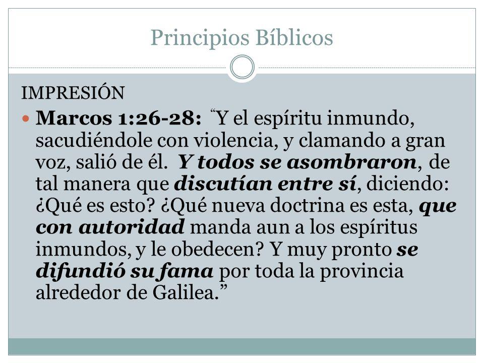 Principios Bíblicos IMPRESIÓN.