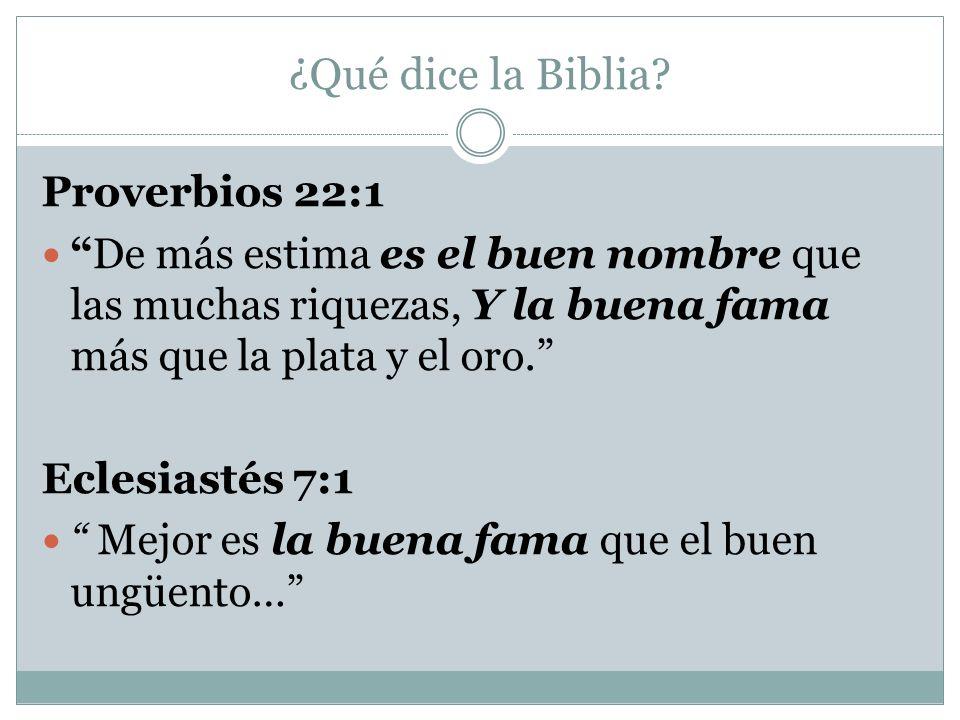 ¿Qué dice la Biblia Proverbios 22:1
