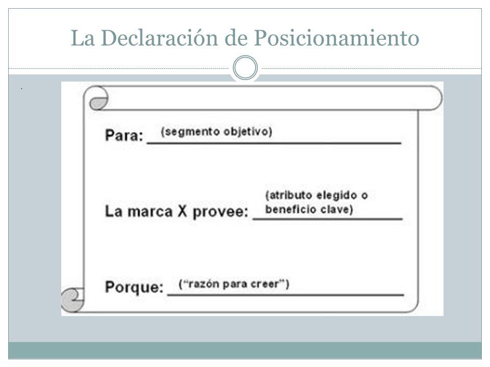 La Declaración de Posicionamiento