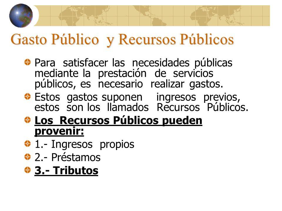 Gasto Público y Recursos Públicos