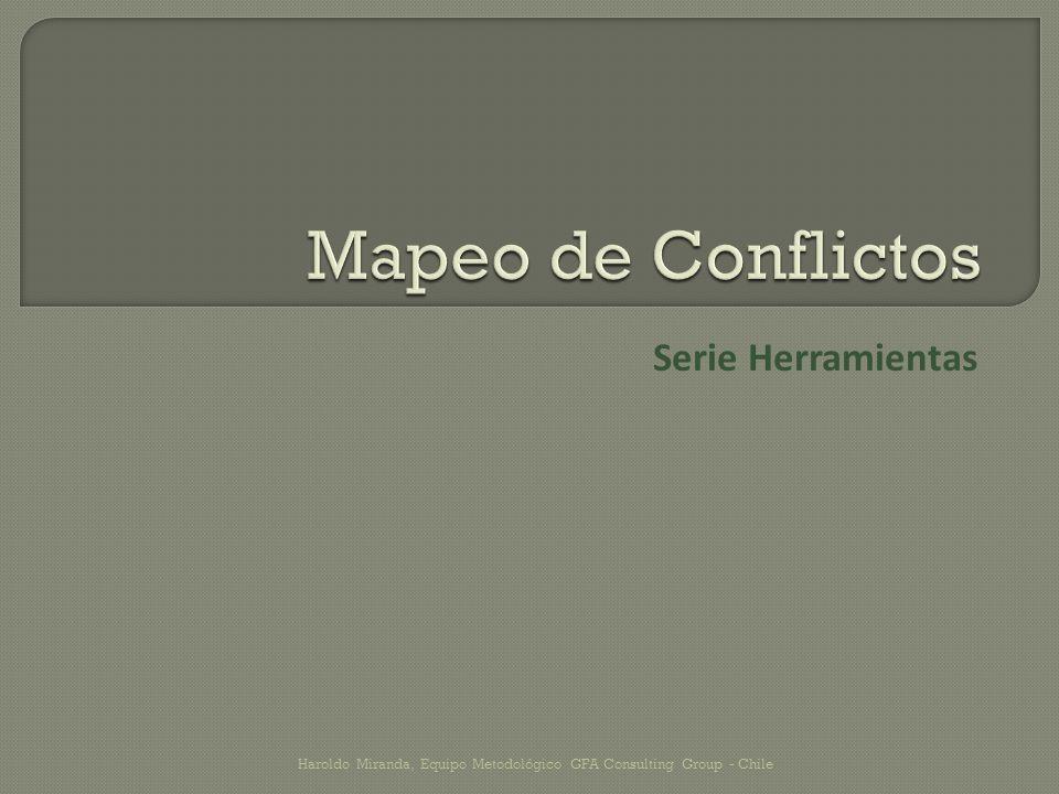 Mapeo de Conflictos Serie Herramientas