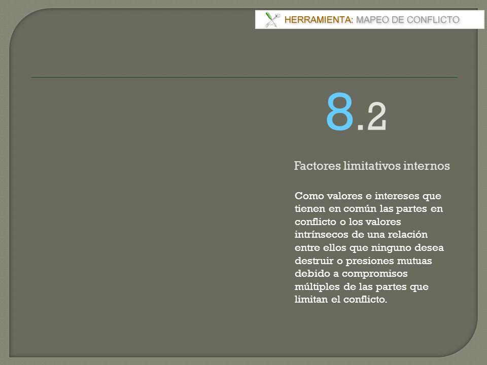 8.2 Factores limitativos internos