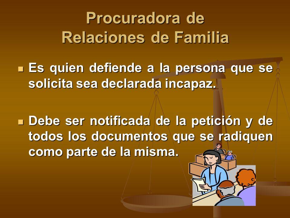 Procuradora de Relaciones de Familia