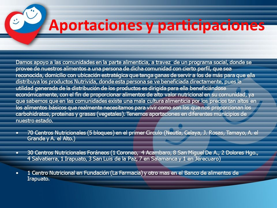 Aportaciones y participaciones