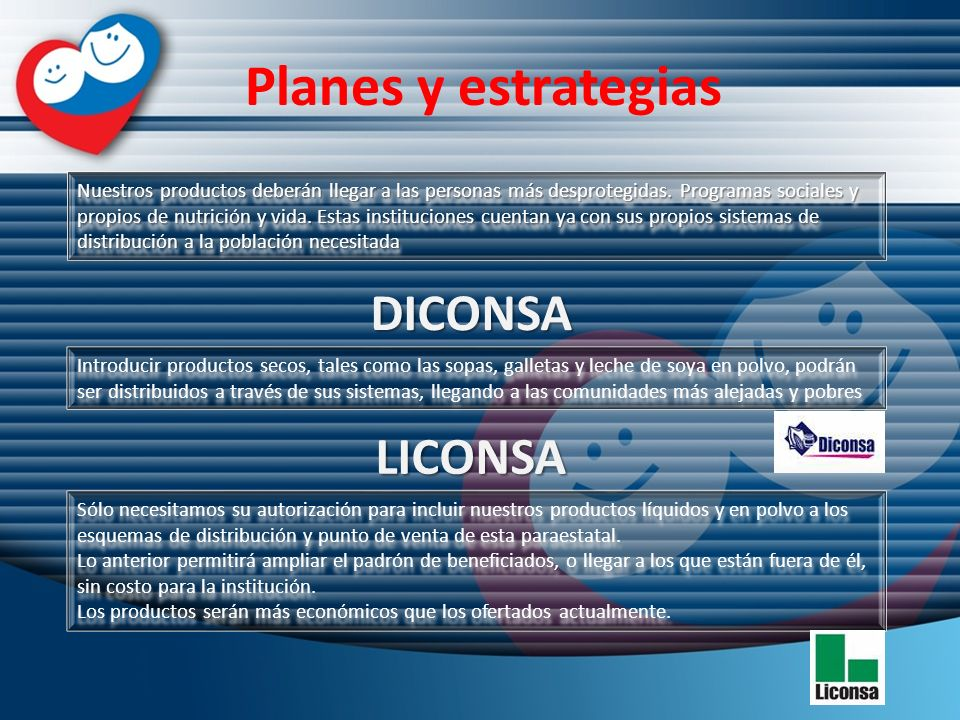 Planes y estrategias DICONSA LICONSA