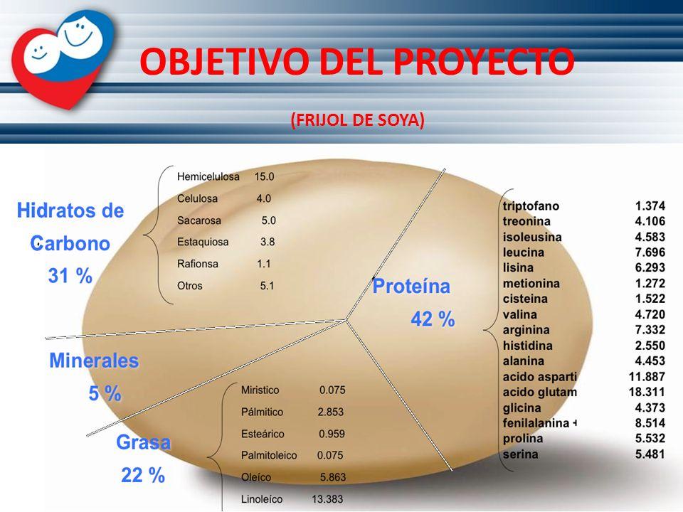 OBJETIVO DEL PROYECTO (FRIJOL DE SOYA)