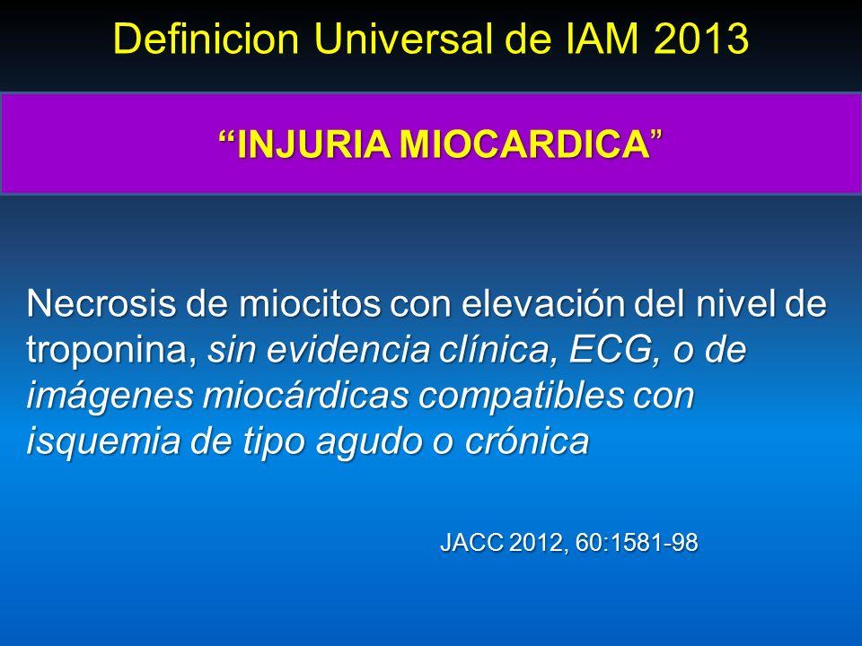 S ndromes coronarios agudos sin elevai n del st scasest for Universal definicion