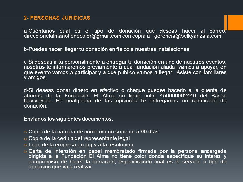 2- PERSONAS JURIDICAS