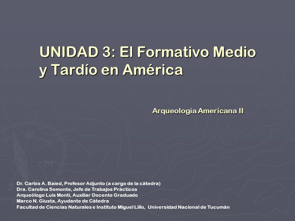UNIDAD 3: El Formativo Medio y Tardío en América