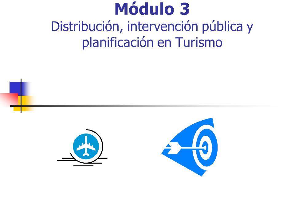 Módulo 3 Distribución, intervención pública y planificación en Turismo